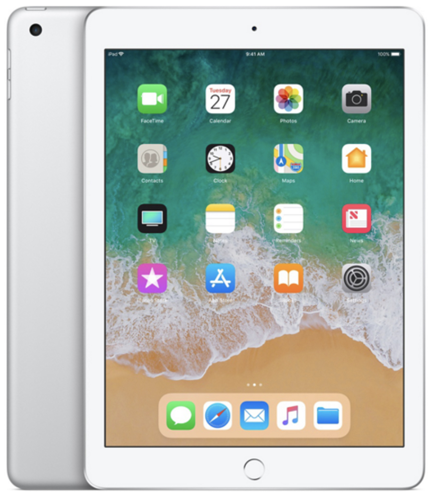 Apple iPad 6 (2018) 128Gb Wi-Fi + Cellular серебристый (MR732RU/A)
