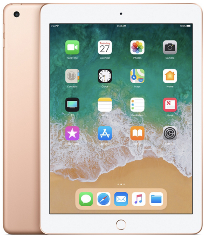 Apple iPad 6 (2018) 32Gb Wi-Fi + Cellular золотой (MRM02RU/A)